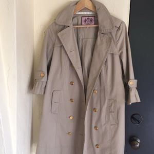 Juicy couture lady trench coat sz small